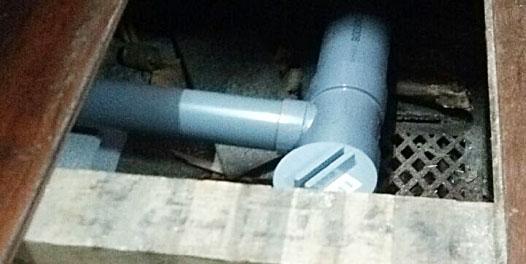 京町屋の下水工事のイメージ