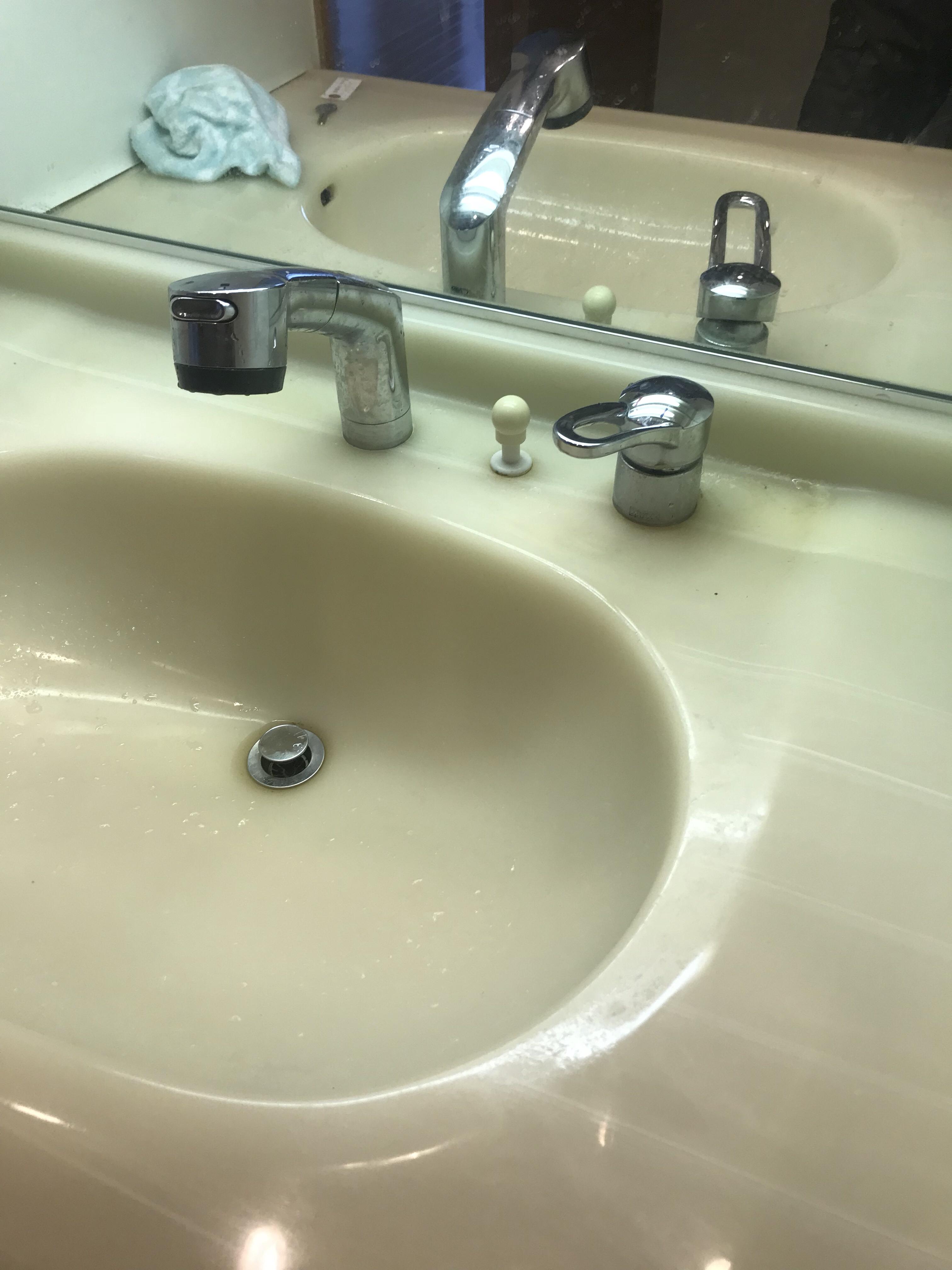 洗面台 シャワー蛇口 ( MYM製 ) 水漏れ修理   京都市