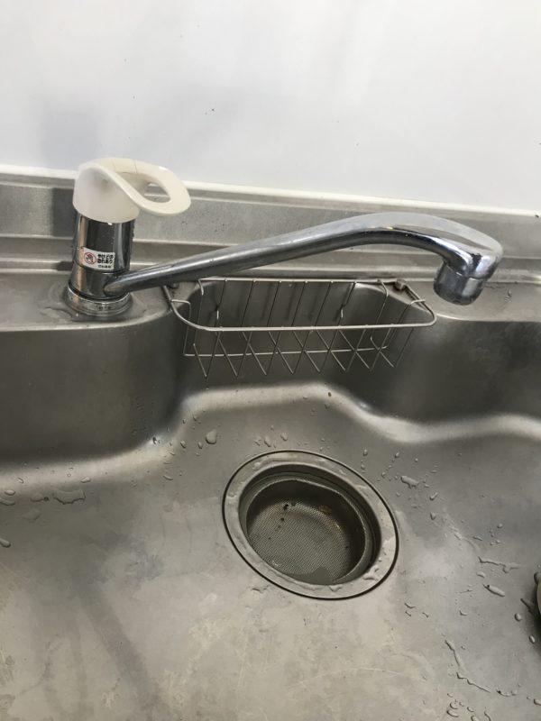 キッチン ワンホール シングルレバー蛇口水漏れ  京都市下京区
