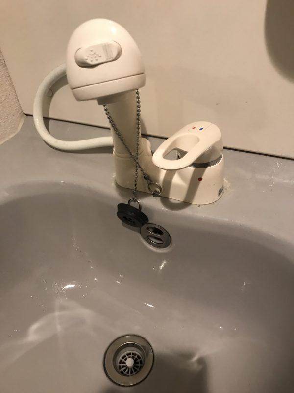 洗面台 シャワー蛇口水漏れ修理  京都市 右京区