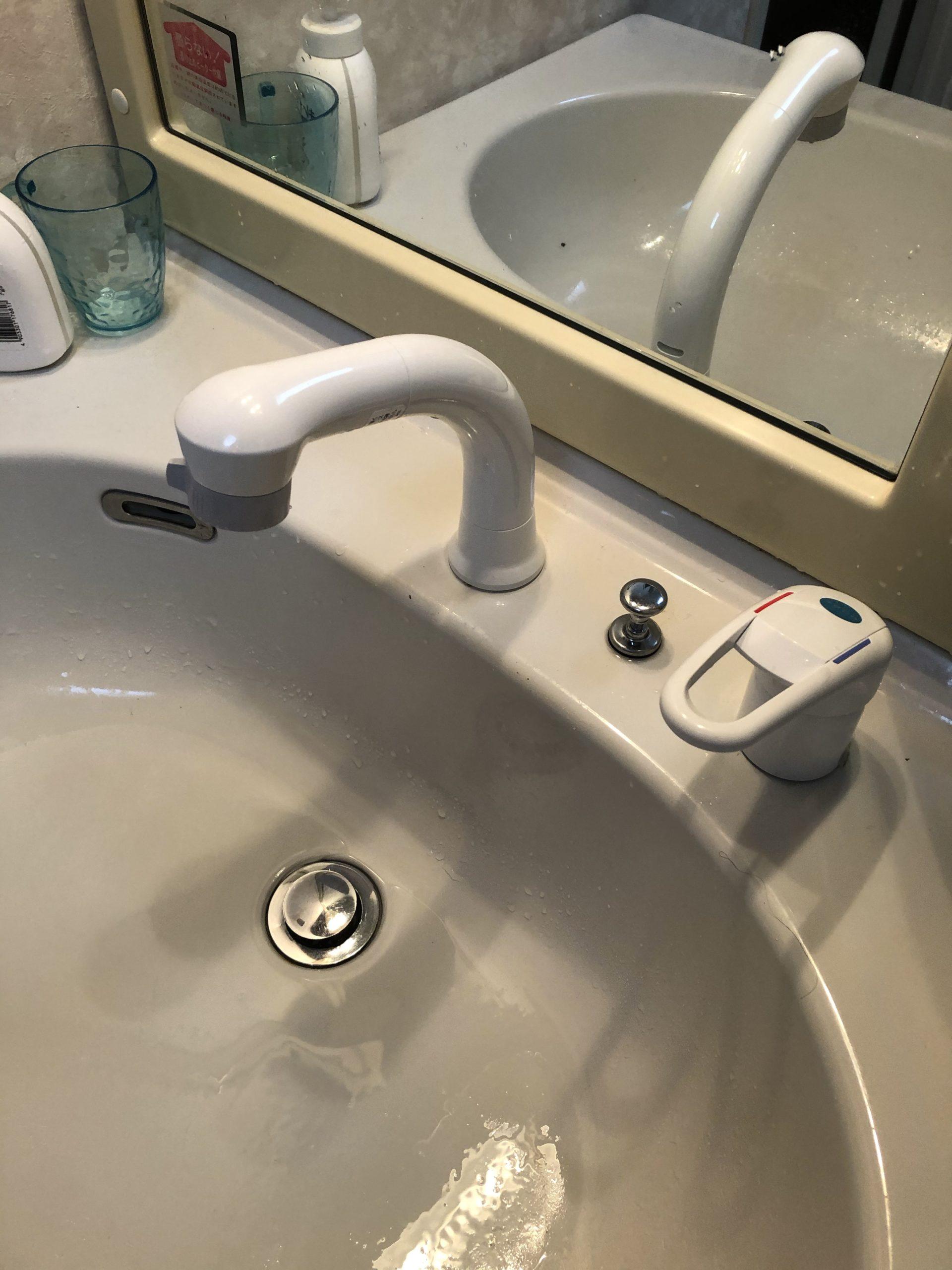 洗面蛇口水漏れ修理 京都市北区