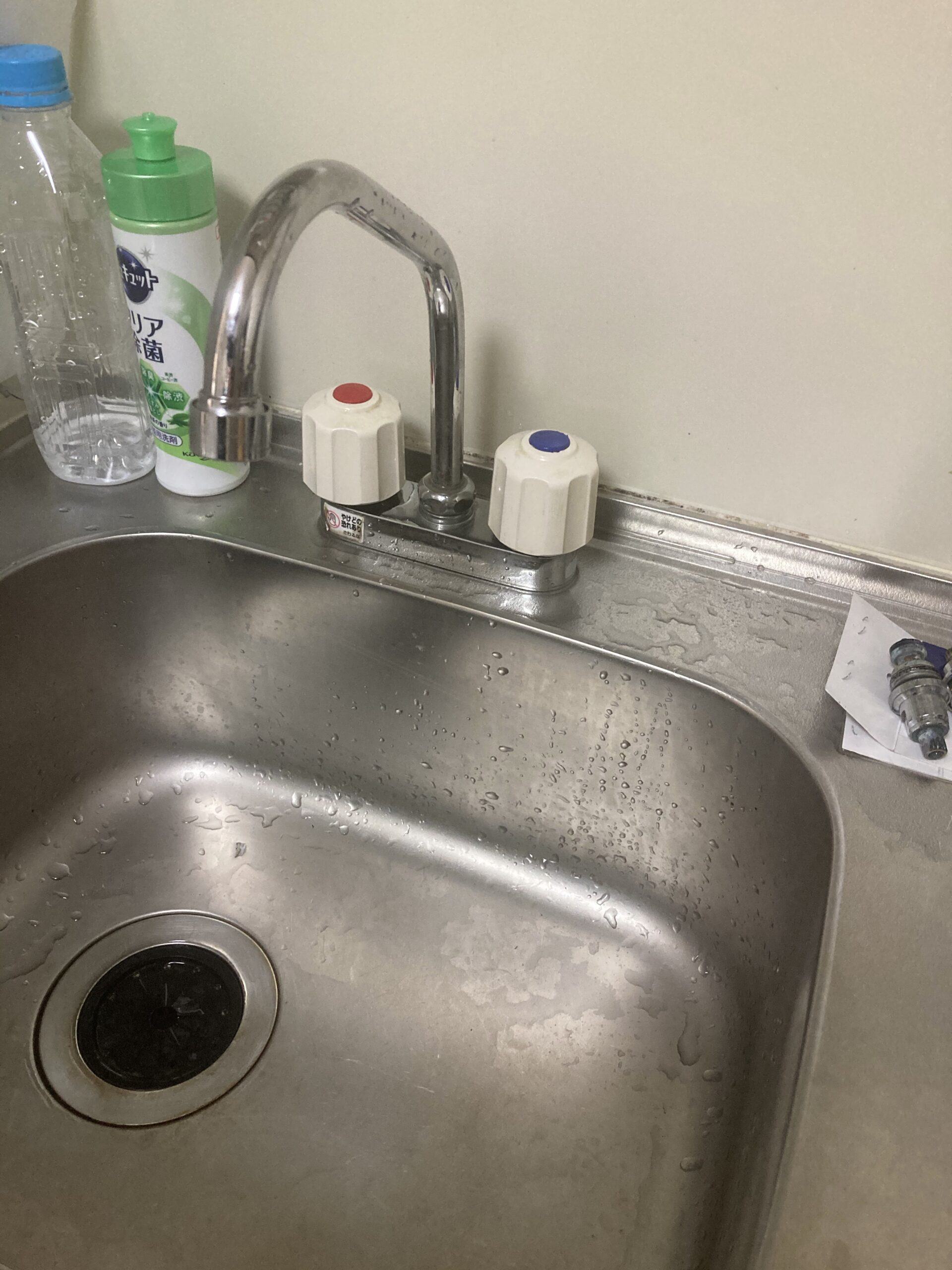 キッチン蛇口水漏れ修理 MYM製混合栓  京都市左京区