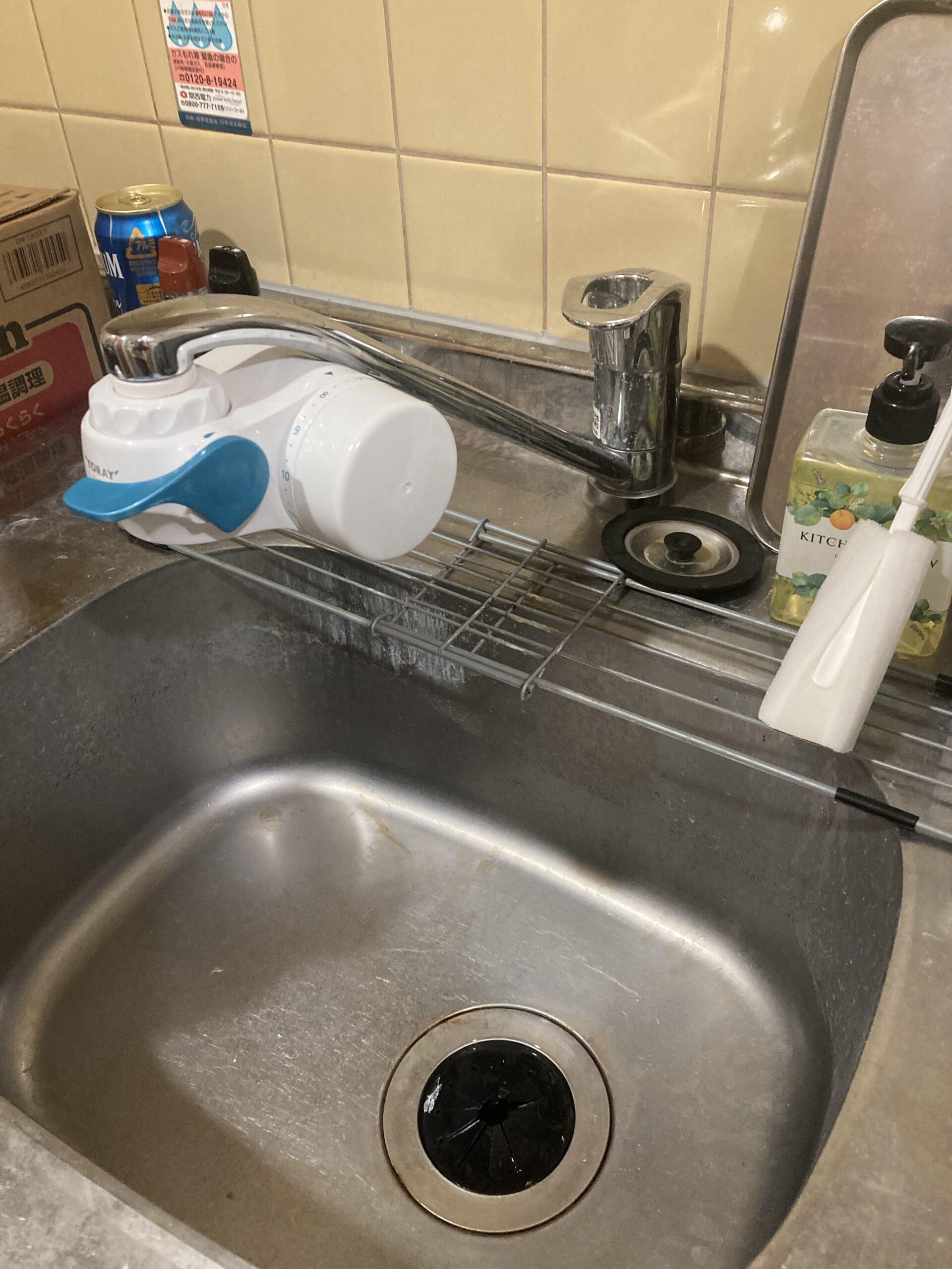 京都市 キッチンワンホールシングルレバー蛇口水漏れ修理